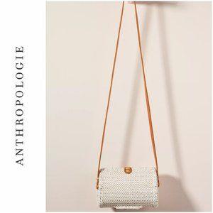Anthropologie Weaved Bali Petite Crossbody Bag